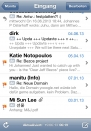 iPhone live: Mail from Jun 19 6:19:45